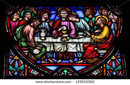 maundy thursday stained glass